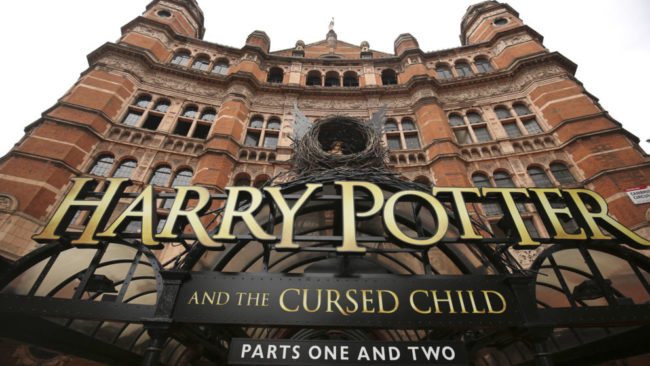 A general view shows The Palace Theatre where the Harry Potter and The Cursed Child parts One and Two play is being staged, in London, Britain July 30, 2016. REUTERS/Neil Hall - RTSKDC1